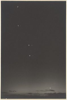 Charles Henry Breed (American, 1876–1950). [Sky with Planets], 1940. Gelatin silver print. The Metropolitan Museum of Art, New York. Gift of Jack T. Lubiner and Clare M. Lubiner, 1985 (1985.1142.1) | ©Jack T. Lubiner. #CosmicWonders #MetonPaper100