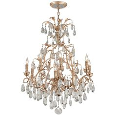 "Corbett Vivaldi 32"" Wide Venetian Leaf Chandelier (20,430 SAR) ❤ liked on Polyvore featuring home, lighting, ceiling lights, chandeliers, crystal chandelier light, venetian crystal chandelier, crystal chandelier, crystal lamps and leaf chandelier"