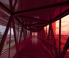 Gallery of Nestlé's Chocolate Museum / Metro Arquitetos Associados - 4 Architecture Design, Contemporary Architecture, Ramp Stairs, Colourful Buildings, Red Glass, Drawing, Modern, House, Chocolate Factory