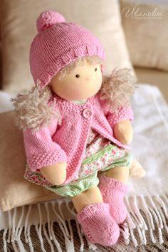 Купить Вальдорфская кукла Цветочная Непоседа - вальдорфская кукла, вальдорфская игрушка, вальдорфские куклы