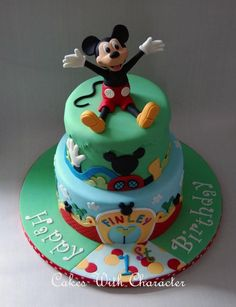 Mickey Mouse Clubhouse Cake | This Marvelous Mickey Mouse Clubhouse Cake was made by Cakes with ...