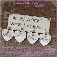 Handmade Wooden Plaques - www.facebook.com/preciousplaquescrieff
