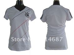 Wholelsale Top Thailand 12/13 Germany Women Football jersey,Soccer Shirts,embroidered logo on AliExpress.com. $95.00