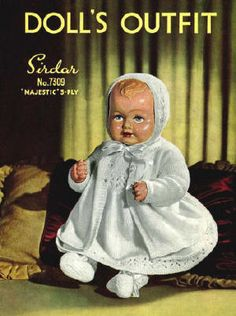 Baby Doll Clothes Vintage Knitting Pattern for download