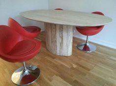 GI BUD! Unikt Vintage 60/70-talls marmor spisebord og kulestoler