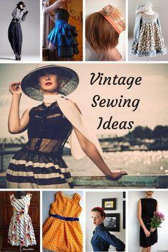 Vintage Sewing Ideas: Free Patterns Roundup - https://sewing4free.com/vintage-sewing-ideas-free-patterns-roundup/