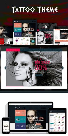 Ves Tattoo. Magento Themes. $72.00