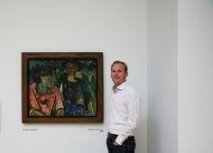 """Karl Schmidt-Rottluff, Vrouwen in het groen, 1914. - Doede Hardeman: """"Ik ken geen mooier voorbeeld van het Duits expressionisme in Nederland. Wat een pracht-schilderij!"""""""