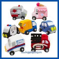 NEW City & Emergency Cars  PDF Pattern Garbage Truck por BuggaBugs