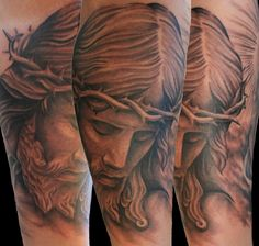 Jesus Tattoos With Clouds Best Eye Catching Picture