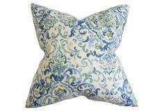 Quentin 18x18 Pillow, Blue