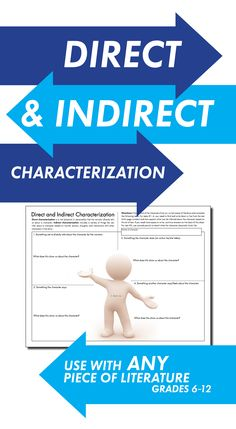 Add some text-based fun to ANY novel, play, or short story with this easy-to-use worksheet where students choose a character and focus on evidence from the text as they examine the technique of direct and indirect characterization.