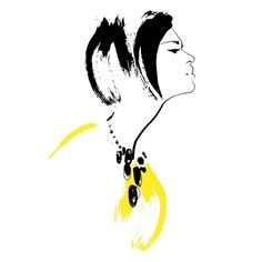Quick drawing for today #fashionillustration #instacofd #art #print #ink #yellow