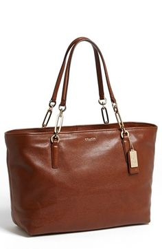 Brown bag for class   -Coach 'Madison' Leather Tote East-West