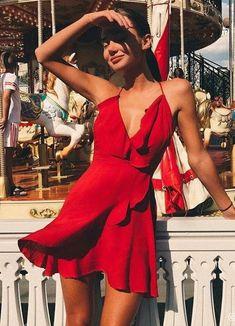 red, dress, and fashion image – Fashion // Summer Outfits Fashion // Summer Outfits / rot, kleid und mode bild Glamouröse Outfits, Spring Outfits, Fashion Outfits, Womens Fashion, Fashion Clothes, Red Clothing, Clothing Sites, No Clothes, Couture Summer Outfits
