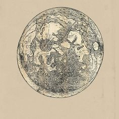 ON SALE SET of Drawings of the Moon by TheCuratorsPrints on Etsy