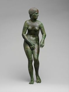 Bronze statuette of Aphrodite, ca. 150-100 B.C. Greek, Late Hellenistic. The Metropolitan Museum of Art, New York. Rogers Fund, 1912 (12.173).