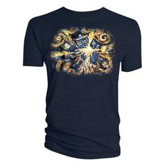 Eye-catching TARDIS inspired design Van Gogh t-shirt - High quality t-shirt - Officially licensed - Packaging Polybag - Material 100