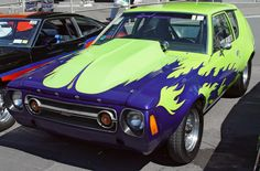 1976 AMC Gremlin - Green with Blue Flames -my mom had a Gremiln lol
