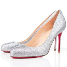 Christian Louboutin Fifi 80mm Pumps Silver