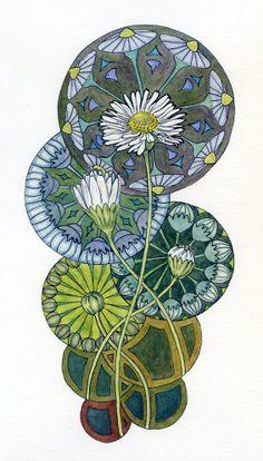 Daisy Nouveau by NoelBadgesPugh.deviantart.com on @deviantART