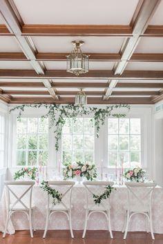 Wedding planning + design: http://www.alwaysyoursevents.com | Linen: http://latavolalinen.com | Photography: http://www.meredithjanephoto.com | Wedding venue: http://www.dennisinn.com/ | Read More: https://www.stylemepretty.com/vault/image/6428836