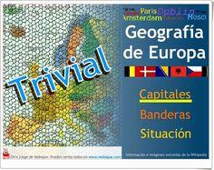 """""""Trivial Europa"""", de Vedoque, es un juego en el que acertar sobre capital, bandera y situación de las naciones europeas."""