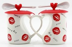 Gifts for you, you choose____? Mug-->http://goo.gl/OVwPZT Live a better life, start with Beddinginn http://www.beddinginn.com/product/Sexy-Lips-Heart-Shape-Handle-Lovers-Mug-With-Lid-And-Spoon-10784304.html