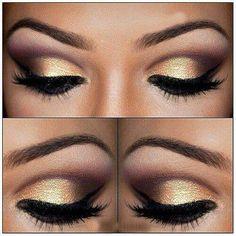 Gold and Purple Eye Shadow