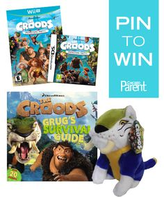 This week we're giving away a prize pack for The Croods! It includes a plush toy, book, poster, Wii game or Nintendo DS game! To enter, REPIN and COMMENT below! Winner will be announced here at 4 pm today.