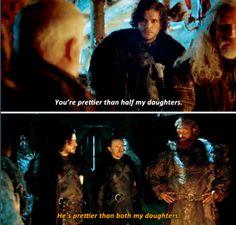 You are very pretty Jon.