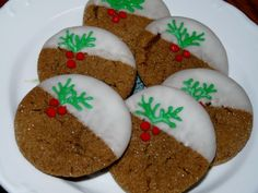 Dipped Ginger Cookies
