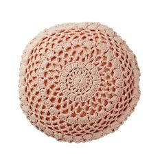 Sage and Clare   Nancy Crochet Cushion   CORAL – Shut the Front Door! online