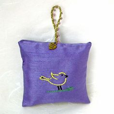 Only a few days left to get  thisrecent addition to my #etsy shop: Hand-embroidered Hanging Lavender Sachet filled with home-grown lavender from Napa Valley |  http://etsy.me/2nUzWZ4 #art #bird #purple #housewarming #valentinesday #sachet  #lavender
