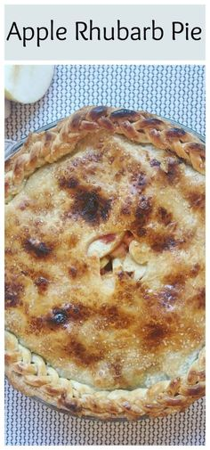 Want a unique twist on the traditional apple pie recipe? This Apple Rhubarb Pie uses a filling of fresh apples and rhubarb as a twist to the classic apple pie. This awesome, homemade pie is bursting w (Bake Treats Apple Pies) Apple Rhubarb Pie, Rhubarb Recipes, Apple Pie Recipes, Best Dessert Recipes, Easy Desserts, Sweet Recipes, Delicious Desserts, Yummy Food, Apple Pies