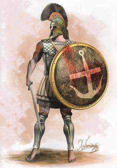 Athenian Hoplite By Christos Yiannopoulos