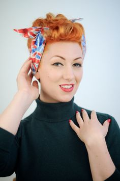 Festival hairstyling guide featured in the August issue of Vintage Life Magazine. Model: Ava Aviacion. Hair and make-up: Sarah's Doo-Wop Dos. Photo: Jez Brown Photography www.doowopdos.co.uk
