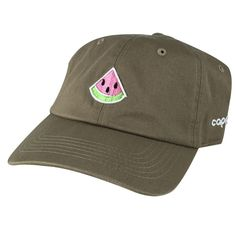 fe6e0e4faab Emoji 3D Watermelon Unstructured Dad Hat Cap - Khaki