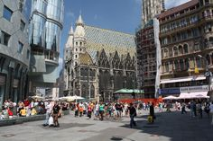 Stephansplatz is the central most square in Vienna and is named after its most prominent building, Stephansdom (St. Stephen's Cathedral).      Google Image Result for http://2008rotchscholarship.files.wordpress.com/2009/11/stephansplatz-2.jpg