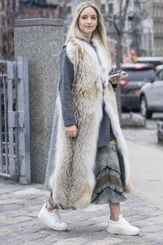 Catch Up on All of NYFW's Best Street Style From Last Season Day 7 Charlotte Groeneveld.