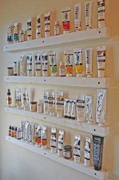 diy paint tube storage