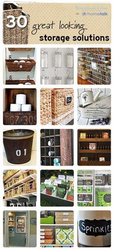 Great looking storage ideas on Hometalk, featured on FunkyJunkInteriors.net