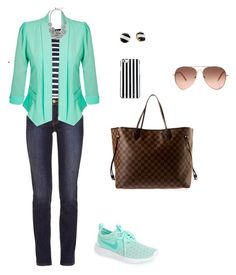 """""""Menta"""" by juany-rodriguez on Polyvore featuring moda, NIKE, Louis Vuitton, Kate Spade, Sea, New York, Tory Burch, City Chic y MICHAEL Michael Kors"""