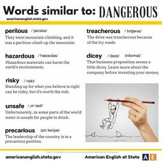 Synonym to Dangerous