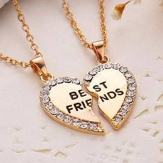 *So Cute* BFF Friendship Necklaces in Gold *NEW* 2 BFF Friendship Necklaces. Please see listing for this necklace in Silver. Make an Offer or Bundle discount Jewelry Necklaces Bff Necklaces, Couple Necklaces, Best Friend Necklaces, Best Friend Jewelry, Best Friend Gifts, Gifts For Friends, Best Friend Stuff, Bestfriend Necklaces For 2, Diamond Necklaces