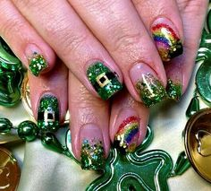St. Patrick's Day Nails ☘