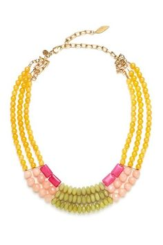 Multicolor Jade Necklace. It makes me think of SPRING.