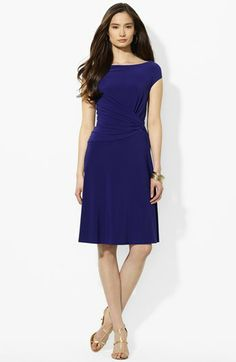 Simple. And I would guess universally flattering. Lauren Ralph Lauren Knotted Matte Jersey A-Line Dress | Nordstrom