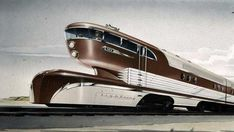 ✨From Deco to Atom✨ — high-speed trains, boats and helicopters Diesel Punk, Raymond Loewy, Train Posters, Colani, Train Art, Old Trains, Transporter, Steam Locomotive, Train Tracks