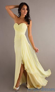 Long Strapless Prom Dress by Crush 13745 at PromGirl.com
